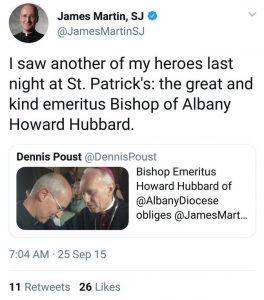 A Tweet from Fr. Martin on Twitter